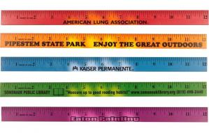 Mood Twelve Inch Wood Promotional Rulers Image