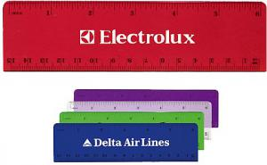 6 Inch Advertising Plastic Ruler Image