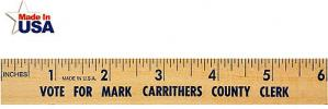 6 inch Natural Finish Wood Promotional Ruler Image