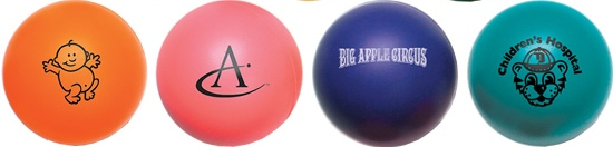 Bottom Four Round Stress Balls Colors Image