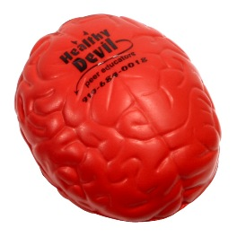 Red Brain Stress Ball Image