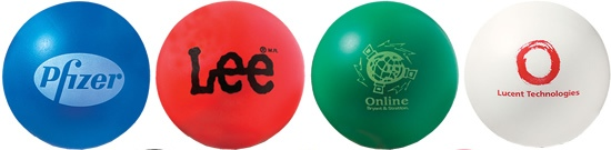 Top Four Round Stress Balls Colors Image