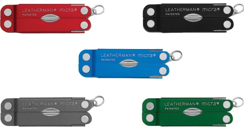 Leatherman Micra Tool Colors