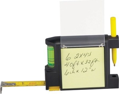 Level Combo Tape Measure Sticky Note and Pen Image