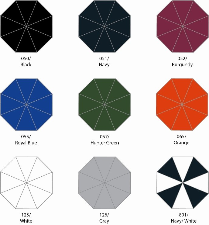 MVP Golf Umbrella Group One Colors Image
