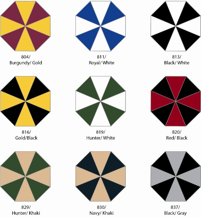 MVP Golf Umbrella Group Two Colors Image