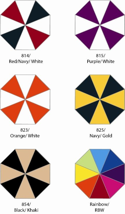 MVP Golf Umbrella Group Four Colors Image