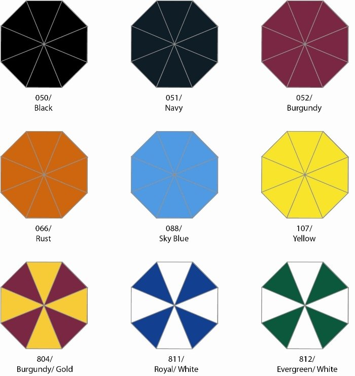 Star Umbrella Colors Group One Image