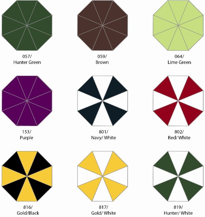 Star Umbrella Colors Group Three Image