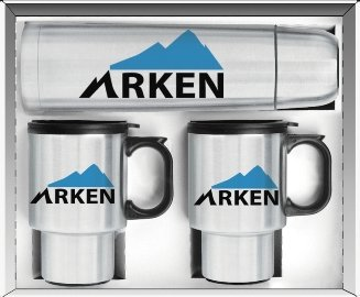 Stainless Steel Thermos, Mugs Gift Set