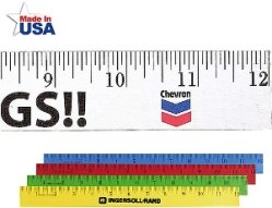 12 Inch Wood Colored Rulers