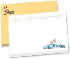 promotional notepads sticky notes notepads on wood pallet